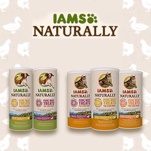 Lancement de la nouvelle gamme de friandises lyophilisées Freeze Dried de la marque IAMS Naturally.