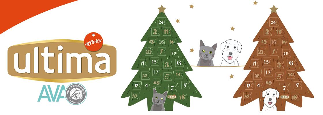 Nouveau Calendrier de l'Avent Ultima avec 24 cases à croquer pour chien et chat
