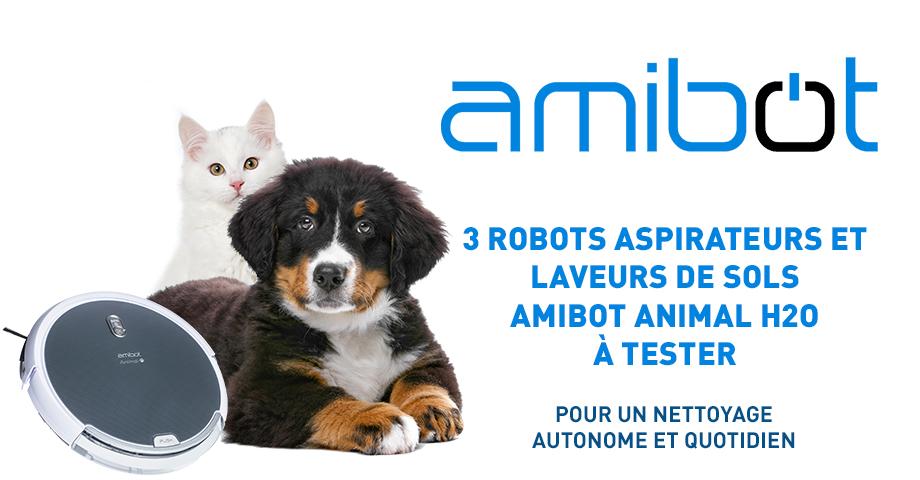 testez gratuitement le robot aspirateur amibot animal h2o. Black Bedroom Furniture Sets. Home Design Ideas