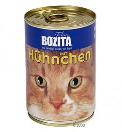 Boîtes Bozita pour chat