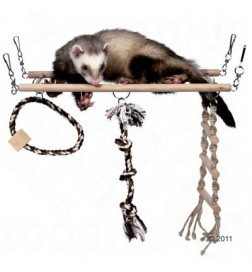 Pont de jeu suspendu pour furet, rongeur et oiseau