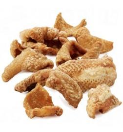 Peaux de poulet grillées pour chien et furet