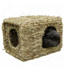 Maison en herbe séchée XL pour rongeur et lapin