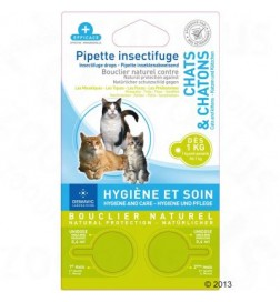 Pipettes insectifuges pour chat et chaton