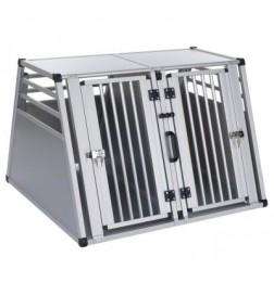 Cage de transport double Aluline pour chien