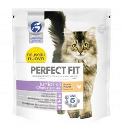 Croquettes Perfect Fit™ Junior (moins d'1 an) riche en poulet pour chats juniors stérilisés