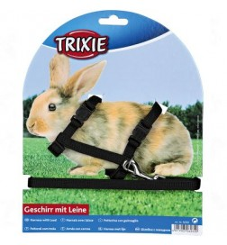 Parure harnais et laisse Trixie pour lapin