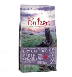 Purizon Adult Sterilised poulet et poisson sans céréales pour chat