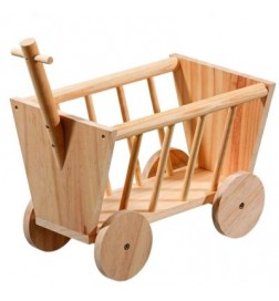 Mangeoire à foin Chariot en bois
