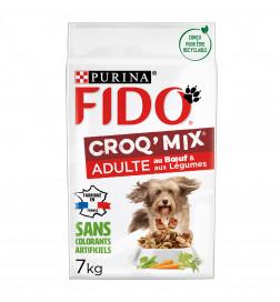 FIDO® CROQ' MIX® Adulte Au Bœuf & aux Légumes