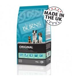 Burns Original poisson et riz brun pour chien