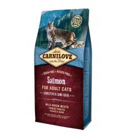 Carnilove Chat Adult Sensitive Long Hair Saumon