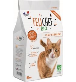 Felichef Croquette BIO sans céréales pour Chat stérilisé