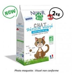 Croquettes Bio stérilisé allégé pour chat