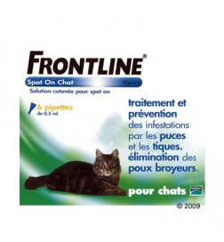 Antiparasitaire Frontline spot-on pour chat