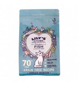 Croquettes sans céréales poisson et herbes pour chat adulte