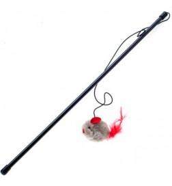 Canne à pêche avec souris qui couine