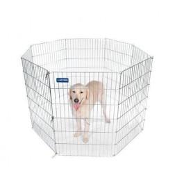 Enclos pliant en métal pour chien composé de 8