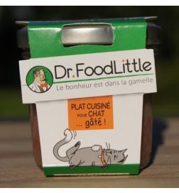 Plat cuisiné pour chat au boeuf