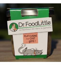 Plat cuisiné pour chat au poisson