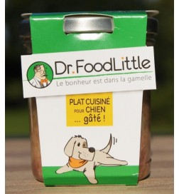 Plat cuisiné pour chien au porc