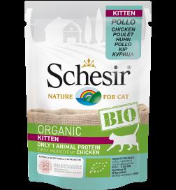 Schesir Humide Kitten BIO pour chatons