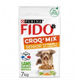 FIDO® CROQ' MIX® Senior À la Volaille & aux Légumes