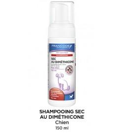Shampoing sec au diméthicone pour chien