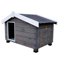 Cabane en bois avec porche pour chiens Mountain