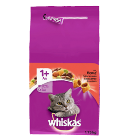Whiskas® Croquettes Chat 1an+