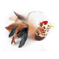 Jouet oiseau culbuto en plumes