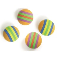 Lot de 4 balles en mousse pour chat