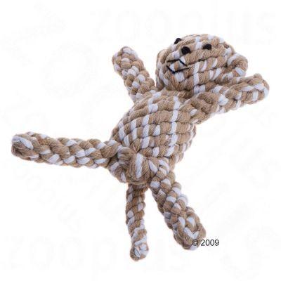Jouet en coton tressé en forme de singe