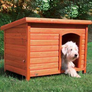 Niche à toit plat pour chien
