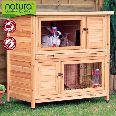 Clapier Natura à étage pour lapin et cochon d'Inde