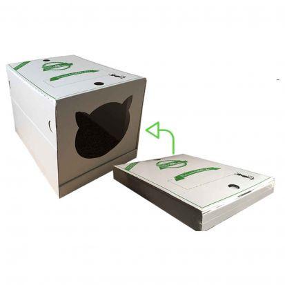 Maison de Toilette Pliable Jetable et 100% Biodégradable pour Chats