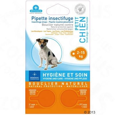 Pipettes insectifuges pour chiens