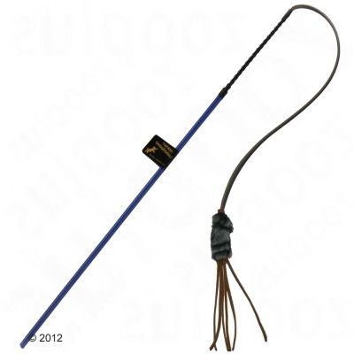 Canne à pêche avec lanières en cuir