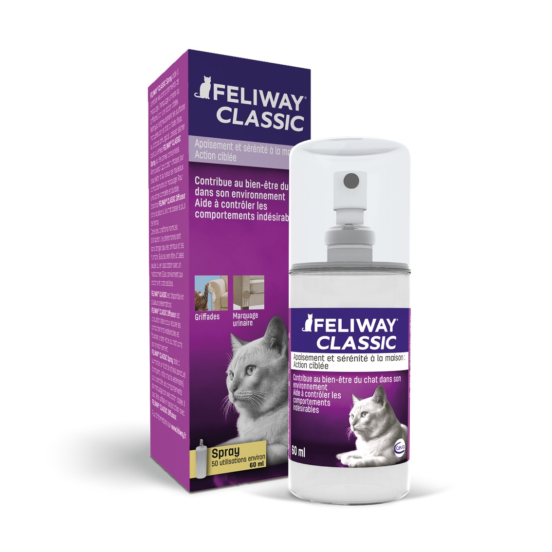 Feliway Spray Anti-Stress pour Chats