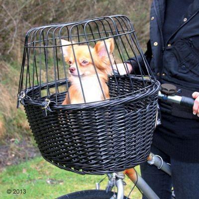 Panier pour vélo Trixie noir pour petit chien