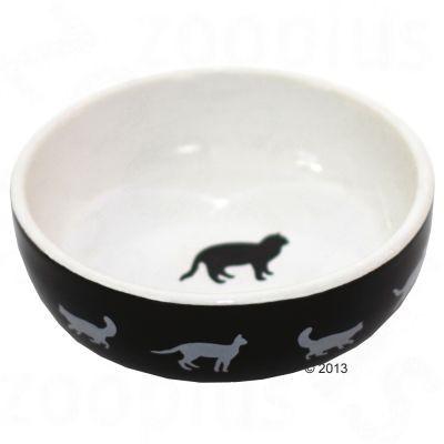Gamelle en céramique Cats Black & White