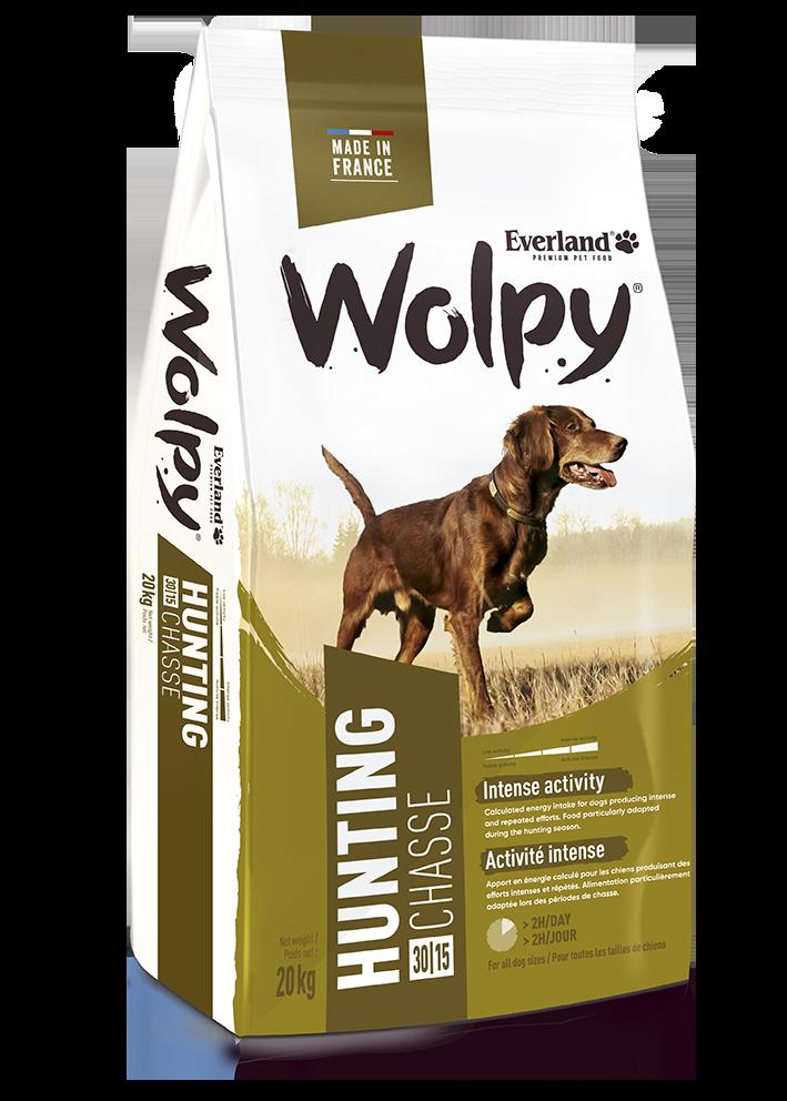 Croquettes Wolpy Chasse pour chiens