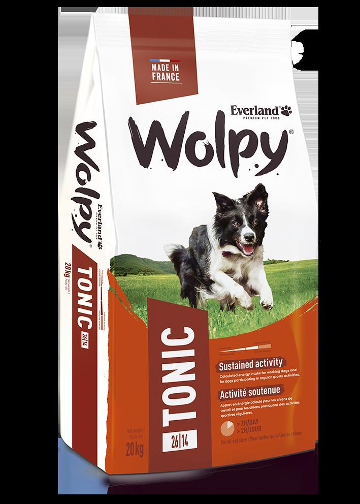 Croquettes Wolpy Tonic pour chiens