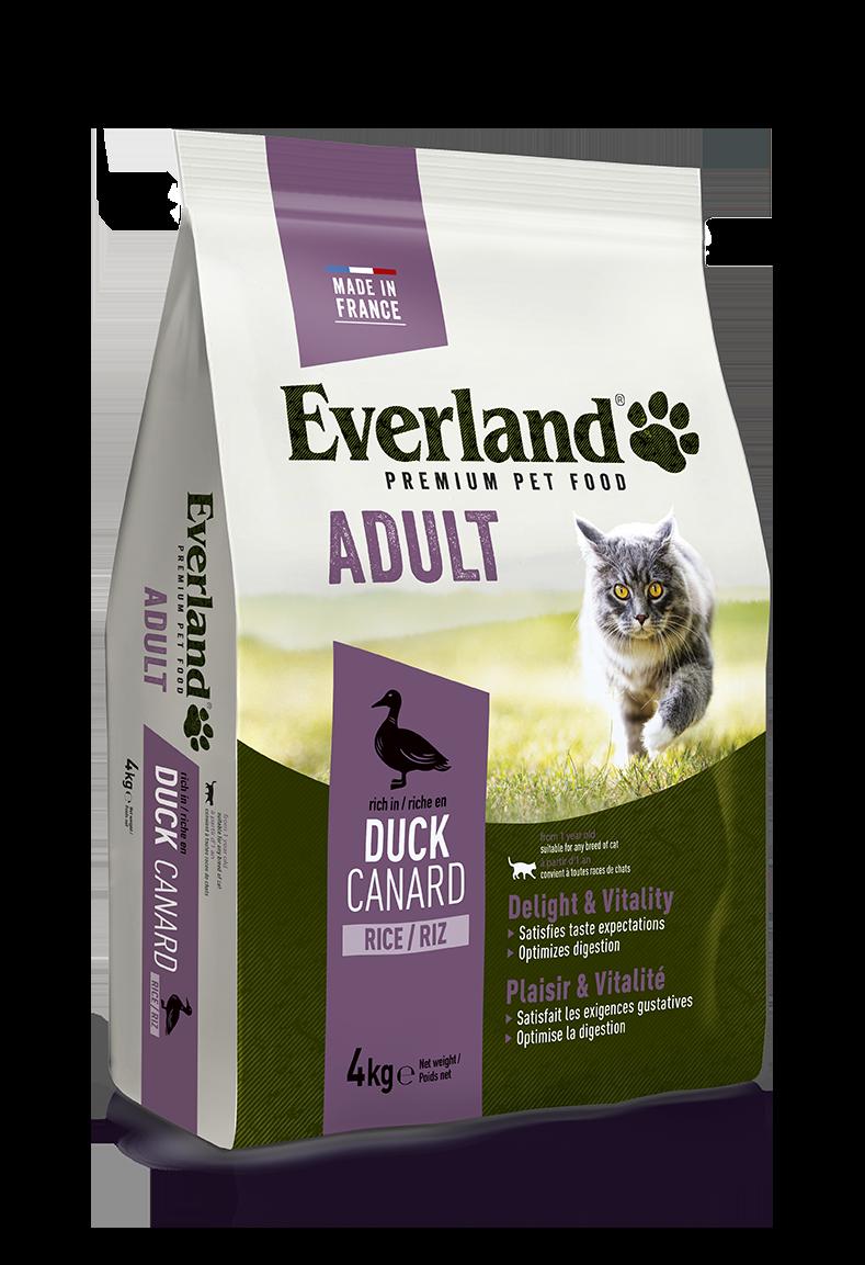 Croquettes premium au canard pour chats adultes