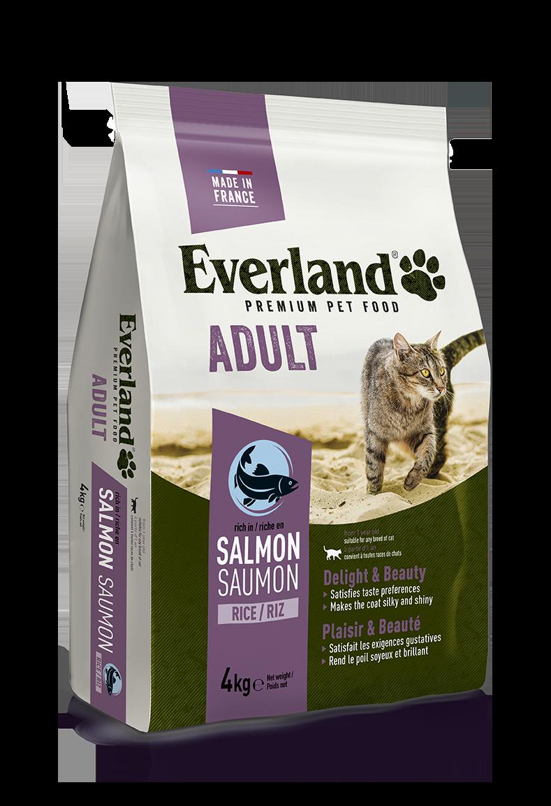 Croquettes premium au saumon pour chats adultes