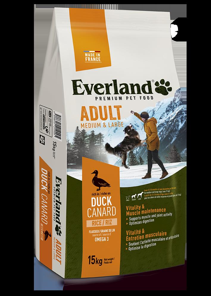 Croquettes premium M&L ADULT au canard pour chiens