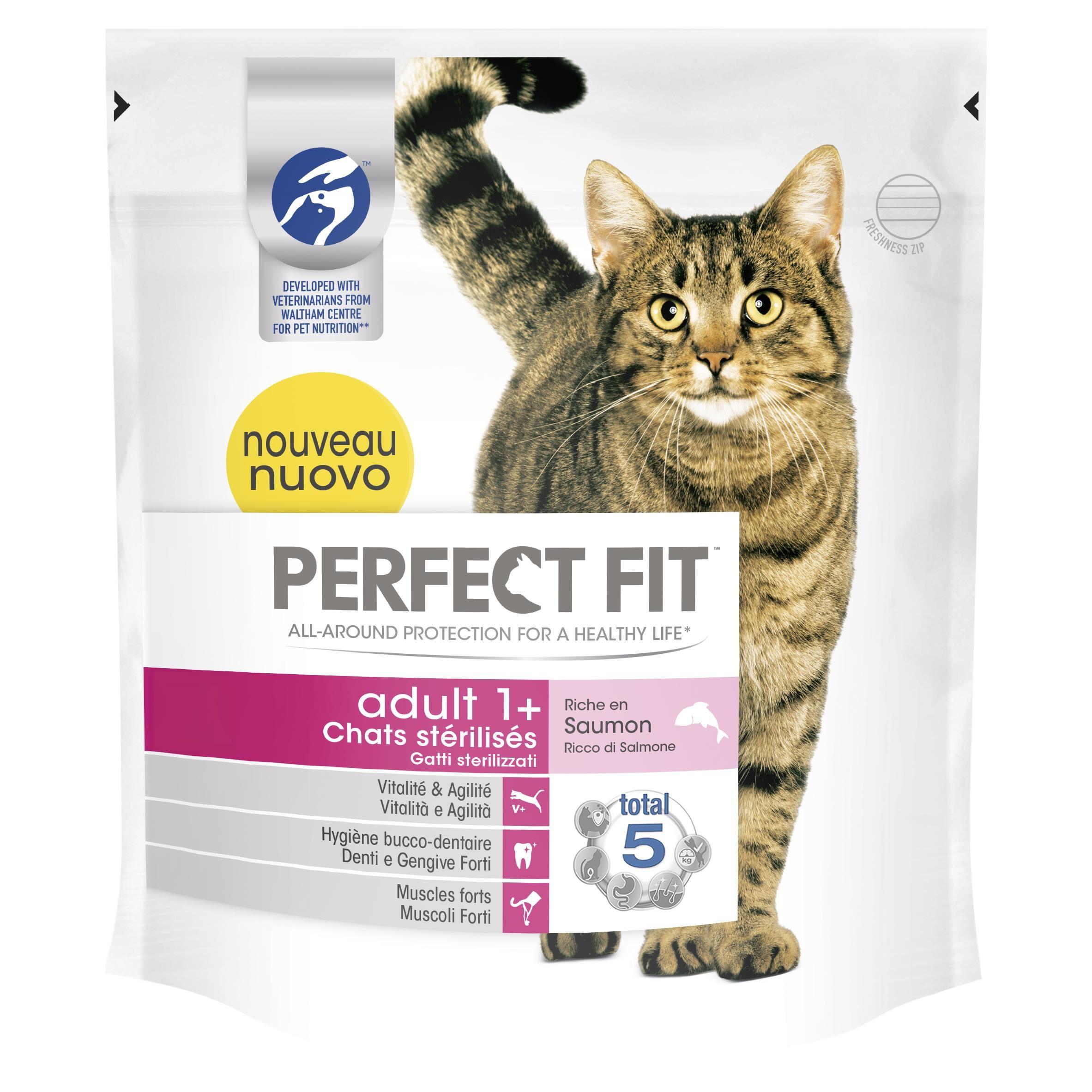 Croquettes Perfect Fit™ Adult 1 an et + pour chats stérilisés