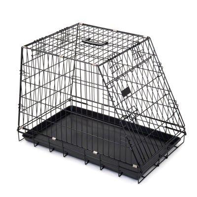 Cage de transport Ruby avec une face inclinée pour chien