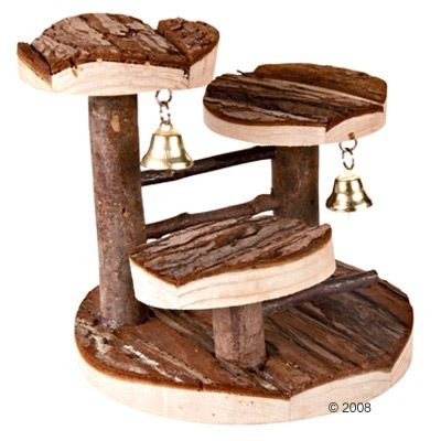 Arbre à grimper en bois naturel pour petit rongeur