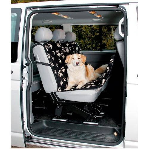 Housse de protection pour chien pour sièges motifs pattes de chien pour voiture